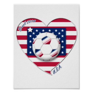 """Soccer Team """"U.S.A."""" Soccer of the United States Posters"""
