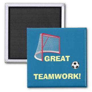 Soccer Teamwork Magnet