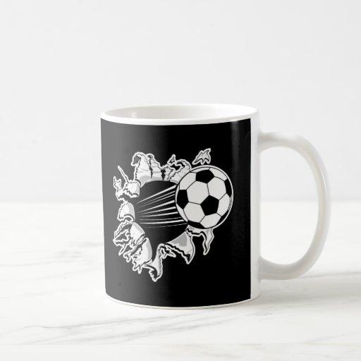 Soccer Tearout Black Classic White Coffee Mug