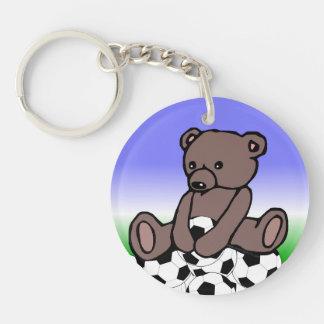 Soccer Teddy Keychain