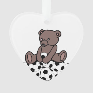 Soccer Teddy Ornament