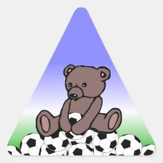 Soccer Teddy Triangle Sticker