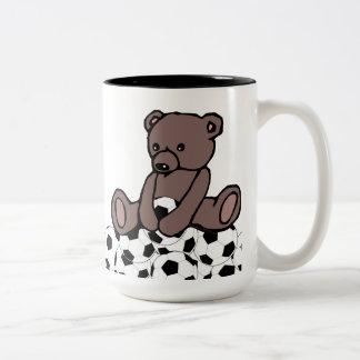 Soccer Teddy Two-Tone Coffee Mug