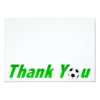 Soccer Thank you note cards Invites