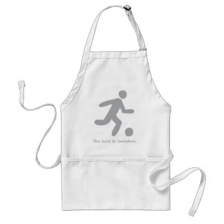 Soccer ....the cure to boredom adult apron