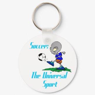 Soccer: The Universal Sport Keychain keychain