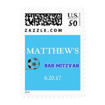 Soccer Theme Bar Mitzvah Stamp