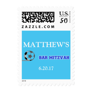 Soccer Theme Bar Mitzvah Stamp