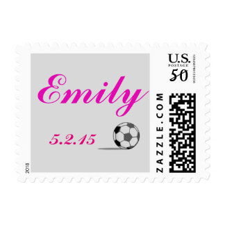 Soccer Theme Bat Mitzvah Stamp