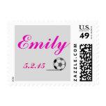 Soccer Theme Bat Mitzvah Stamp