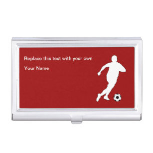 Soccer coach business card holders cases zazzle soccer theme business card case colourmoves