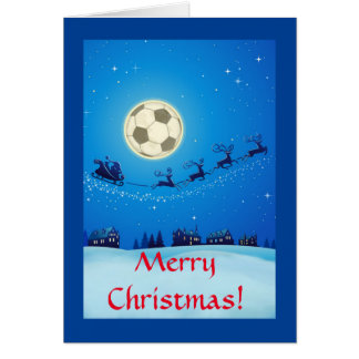 Soccer Theme Christmas Card