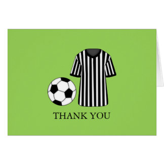 Soccer Theme Party Thank You Card