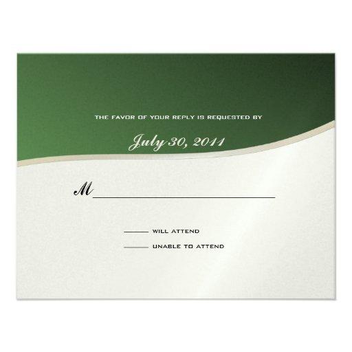 Soccer Theme Response Card Custom Invitation