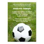 Soccer Themed Bar Mitzvah 5x7 Paper Invitation Card