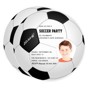 Soccer Birthday Party Invitations Announcements Zazzle