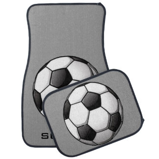 Soccer-Themed Car Mats