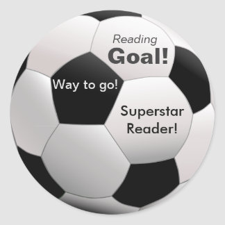 Soccer-themed Reading Incentive Stickers