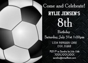 boys soccer birthday invitations zazzle