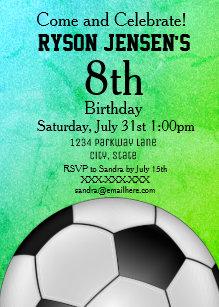 soccer invitations zazzle