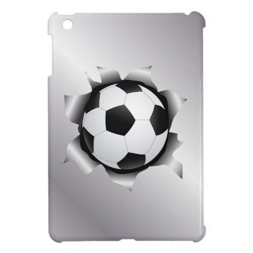 soccer thru metal sheet iPad mini covers