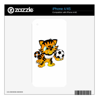 Soccer Tiger iPhone 4 Decals