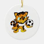 Soccer Tiger Ornament