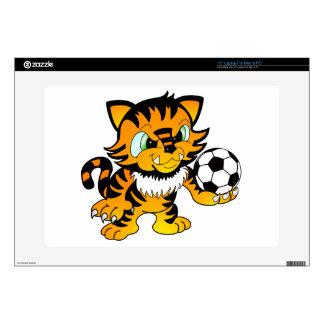"""Soccer Tiger Skins For 15"""" Laptops"""