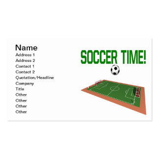 Soccer Time Double-Sided Standard Business Cards (Pack Of 100)