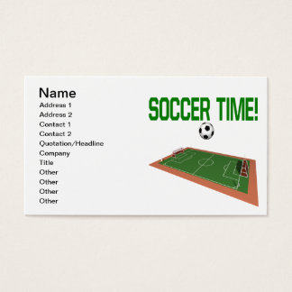 Soccer Time Business Card