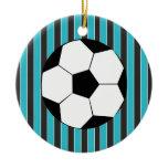 Soccer Time Ceramic Ornament
