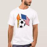 Soccer Torch USA Yello Flag T-Shirt
