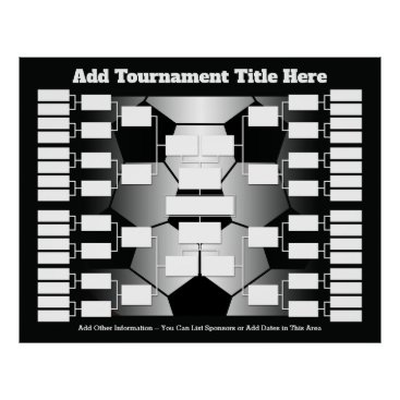 Art Themed Soccer Tournament Bracket for 32 Teams Poster