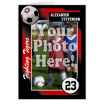 Soccer Trading Card, Custom Color & Size See Below Card