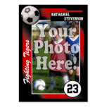 Soccer Trading Card, Red Lg Business Card Size