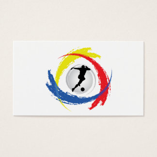 Soccer Tricolor Emblem Business Card