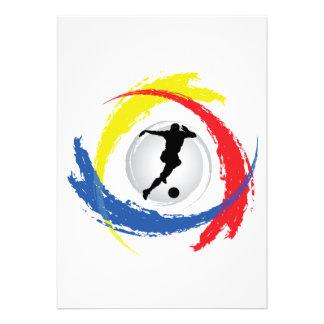 Soccer Tricolor Emblem Invitation