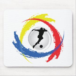 Soccer Tricolor Emblem Mouse Pad