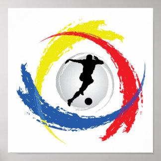 Soccer Tricolor Emblem Poster