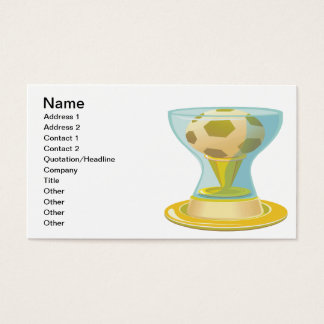Soccer Trophy Business Card