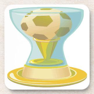 Soccer Trophy Drink Coaster