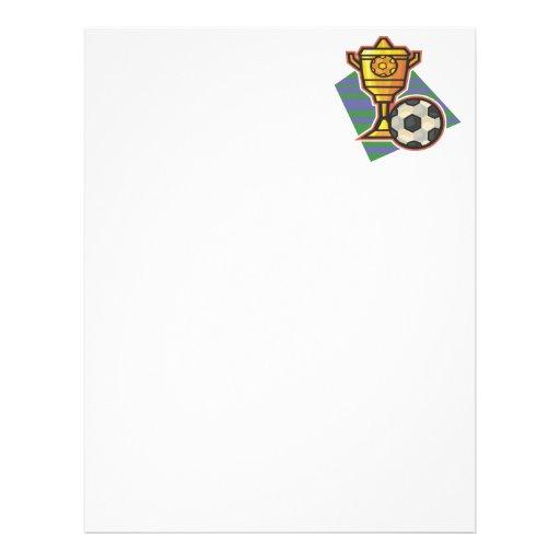 Soccer Trophy Personalized Letterhead