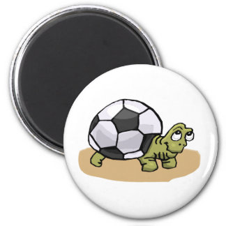 Soccer Turtle 2 Inch Round Magnet