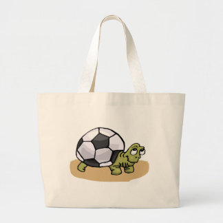 Soccer Turtle Large Tote Bag