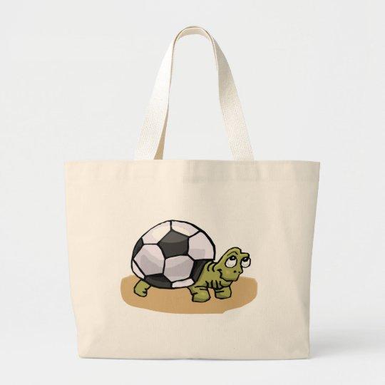 Soccer Turtle Large Tote Bag
