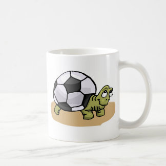 Soccer Turtle Classic White Coffee Mug