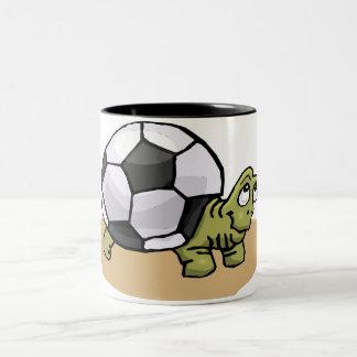 Soccer Turtle Two-Tone Coffee Mug