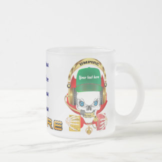 Soccer Umpire All Styles View Hints Frosted Glass Coffee Mug