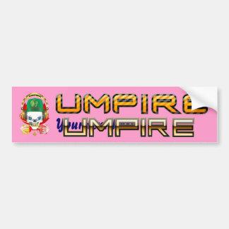 Soccer Umpire Pick one View Hints Bumper Sticker