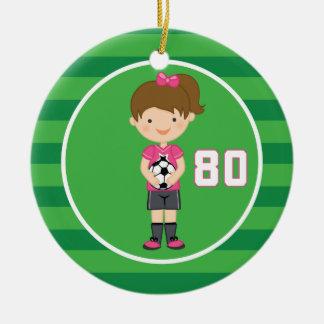 Soccer Uniform Number 80 (Girls) Ornament